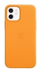 Apple Leather MagSafe Case for iPhone 12 & iPhone 12 Pro - California Poppy