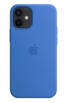 Apple Silicone Case with MagSafe for iPhone 12 and 12 Pro - Capri Blue