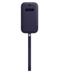 Apple iPhone 12 mini Leather Sleeve with MagSafe - Deep Violet