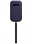 Apple iPhone 12 Pro Max Leather Sleeve with MagSafe - Deep Violet