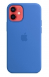 Apple Silicone Case with MagSafe for iPhone 12 Mini - Capri Blue