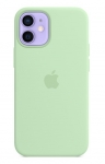 Apple Silicone Case with MagSafe for iPhone 12 Mini - Pistachio