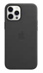 Apple Leather MagSafe Case for iPhone 12 Pro Max - Black
