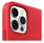 Apple Leather MagSafe Case for iPhone 12 Pro Max - Red