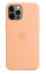 Apple Silicone Case with MagSafe for iPhone 12 Pro Max - Cantaloupe