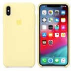 Apple iPhone Silicone Case for iPhone XS Max - Mellow Yellow