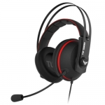 ASUS Tuf Gaming H7 Core 3.5mm Over the Head Wired Stereo Gaming Headset - Black/Red
