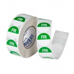 Avery 24mm Friday Round Label Green/White - 1000 Labels