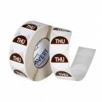Avery 24mm Thursday Round Label Brown/White - 1000 Labels