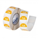 Avery 24mm Tuesday Round Label Yellow/White - 1000 Labels