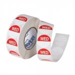Avery 24mm Wednesday Round Label Red/White - 1000 Labels