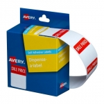 Avery 30 x 24 mm Sale Price Dispenser Label Red & White - 400 Labels