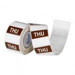 Avery 40mm Thursday Square Label Brown/White - 500 Labels