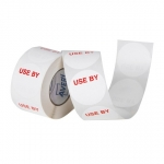 Avery 40mm Use By Round Label White/Red - 500 Labels