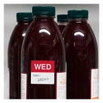 Avery 40mm Wednesday Square Label Red/White - 500 Labels