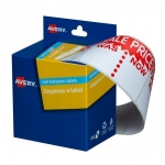 Avery 44 x 63 mm Sale Was/Now Dispenser Label Red & White - 400 Labels