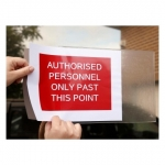 Avery 959177 Clear Laser 221 x 304mm Adhesive Sign Pockets - 10 Sheets