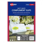 Avery 980027 Matt Laser 210 x 99mm Double Sided Compliment Cards - 10 Sheets