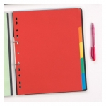 Avery Coloured Extra Wide Manilla Divider - 5 Tabs