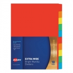 Avery Coloured Extra Wide Manilla Divider - 10 Tabs