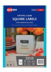 Avery L7095 Crystal Clear Laser 45 x 45mm Square Permanent Labels – 200 Pack