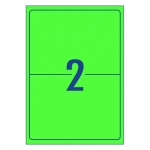 Avery L7168FG Fluoro Green Laser 199.6 x 143.5 mm High Visibility Shipping Label - 10 Sheets