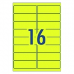 Avery L7162FY Fluoro Yellow Laser 99.1 x 34 mm High Visibility Shipping Label - 25 Sheets
