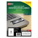 Avery L6012 Silver Laser 96 x 50.8mm Extra Strong Permanent Heavy Duty Identification Label – 200 Labels