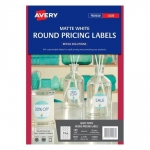 Avery L7129 Matte White Laser 40mm Round Removable Labels - 192 Pack