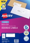 Avery L7157 White Laser 64 x 24.3mm Permanent Quick Peel Address Labels with Sure Feed – 3300 Pack