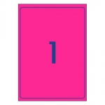 Avery L7167FP Fluoro Pink Laser 199.6 x 289.1 mm Permanent Visibility Shipping Labels - 25 Pack
