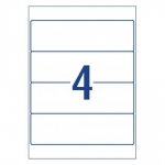 Avery L7171 White Laser Inkjet 200 x 60mm Permanent Lever Arch Filing Labels - 100 Pack