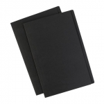 Avery Matt Black Manila Folder Foolscap with White Labels - 10 Pack