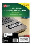 Avery L6009 Silver Laser 45.7 x 21.2mm Extra Strong Permanent Heavy Duty Labels – 960 Pack