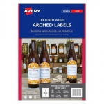 Avery L7128 Textured White Laser 89 x 121mm Arched Permanent Product Labels - 40 Pack