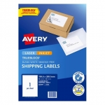 Avery TrueBlock L7167 White Laser Inkjet 199.6 x 289.1 mm Internet Shipping Label - 10 Sheets