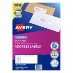 Avery L7163 White Laser 99.1 x 38.1mm Permanent Quick Peel Address Labels with Sure Feed - 1400 Pack