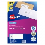 Avery L7162 White Laser 99.1 x 34mm Permanent Quick Peel Address Labels with Sure Feed - 1600 Pack
