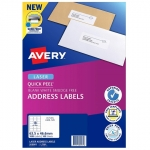Avery L7161 White Laser 63.5 x 46.6mm Permanent Quick Peel Address Labels with Sure Feed - 1800 Pack