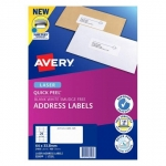 Avery L7159 White Laser 64 x 33.8mm Permanent Quick Peel Address Labels with Sure Feed - 2400 Pack