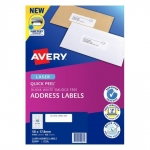 Avery L7156 White Laser 58 x 17.8mm Permanent Quick Peel Address Labels with Sure Feed - 4500 Pack