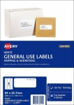 Avery L7158GU White Laser Inkjet 64 x 26.7mm Permanent General Use Labels – 3000 Pack