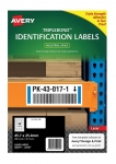 Avery L6140 White Laser 45.7 x 25.4mm Triple Strong Permanent Triple Bond Labels – 400 Pack
