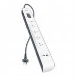 Belkin 4 Outlet Surge Strip with 2.4A USB Charging