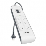 Belkin 6 Outlet Surge Strip with 2.4A USB Charging