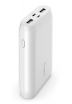 Belkin BoostUP Charge 10000mAh Multi-Port USB-C & USB-A Powerbank - White