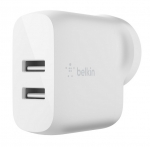 Belkin BoostUP Charge Dual USB-A 24W Wall Charger with 1m USB-A to Micro-USB Cable - White