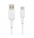 Belkin BoostUP Charge 2m USB-C to USB-A Duratek Charge & Sync Cable - White