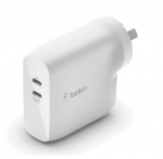 Belkin BoostUP Charge Dual USB-C 68W Wall Charger with GaN Technology - White