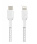 Belkin BoostUP Charge 2m USB-C to Lightning Braided Charge & Sync Cable - White